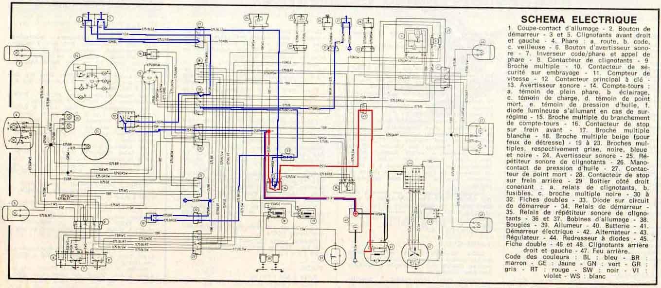 Schemi Elettrici Bmw : Circuit electrique d origine de la bmw r